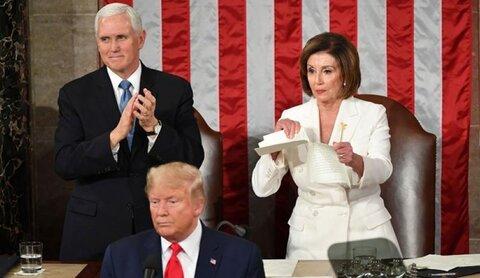 پلوسی: ترامپ را از کاخ سفید بیرون میاندازم