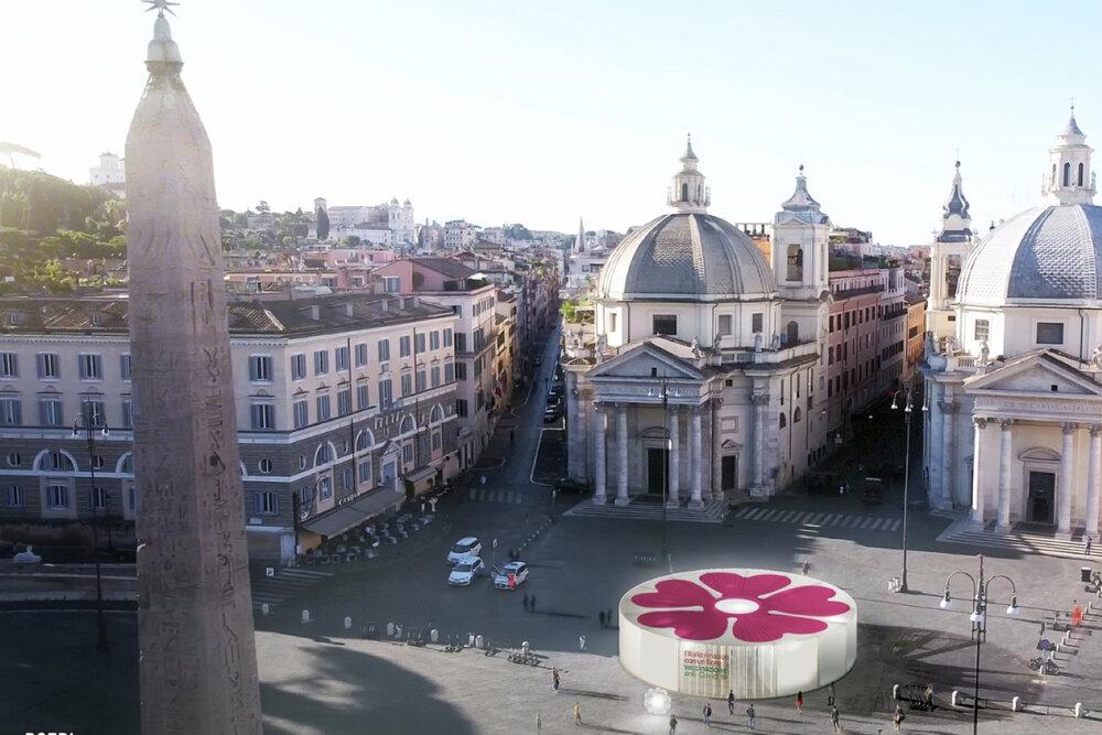 خلاقیت شهری ایتالیا برای تشویق مردم به تزریق واکسن کرونا