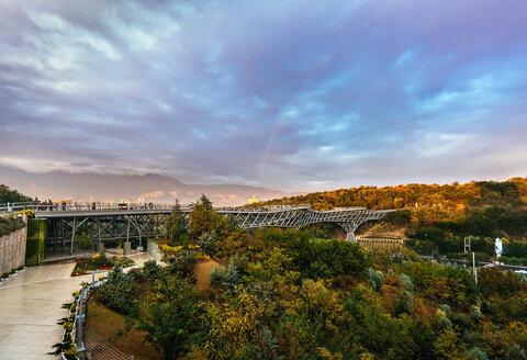 Pole Tabiat largest pedestrian bridge in Iran
