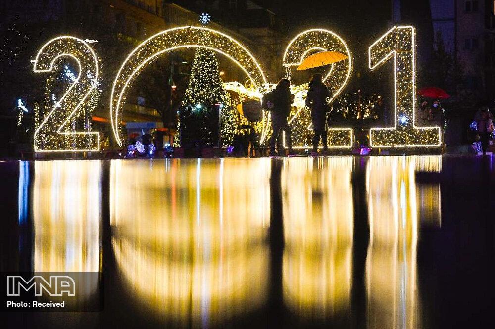 آغاز سال نو میلادی در شهرهای جهان