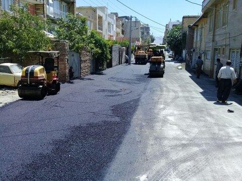 پیشرفت فیزیکی ۷۰ درصدی پروژه آسفالت معابر قزوین