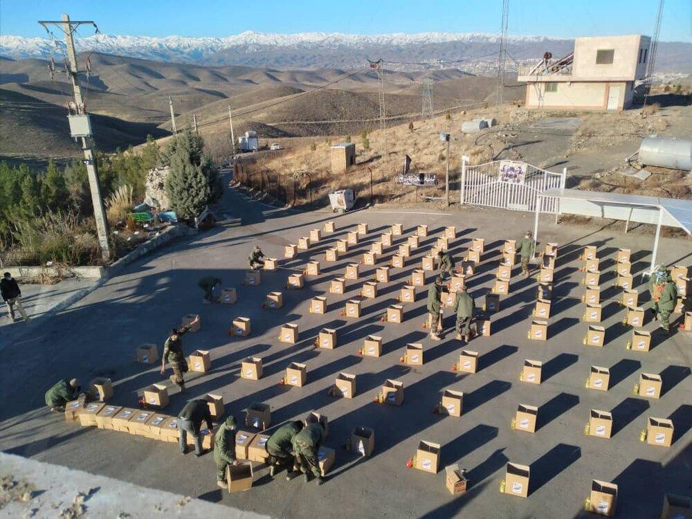تهیه و توزیع ۱۵۰ بسته معیشتی در مشهد