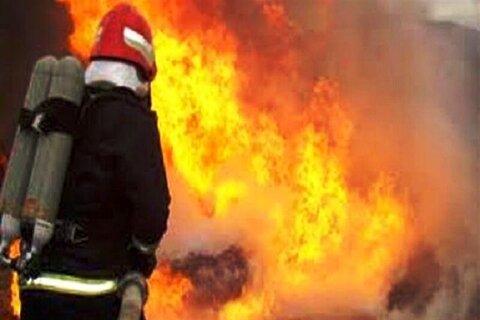 آتش سوزی هولناک در کارگاه چوب بری شیراز