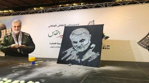بزرگداشت سالروز شهادت سردار سلیمانی در غزه
