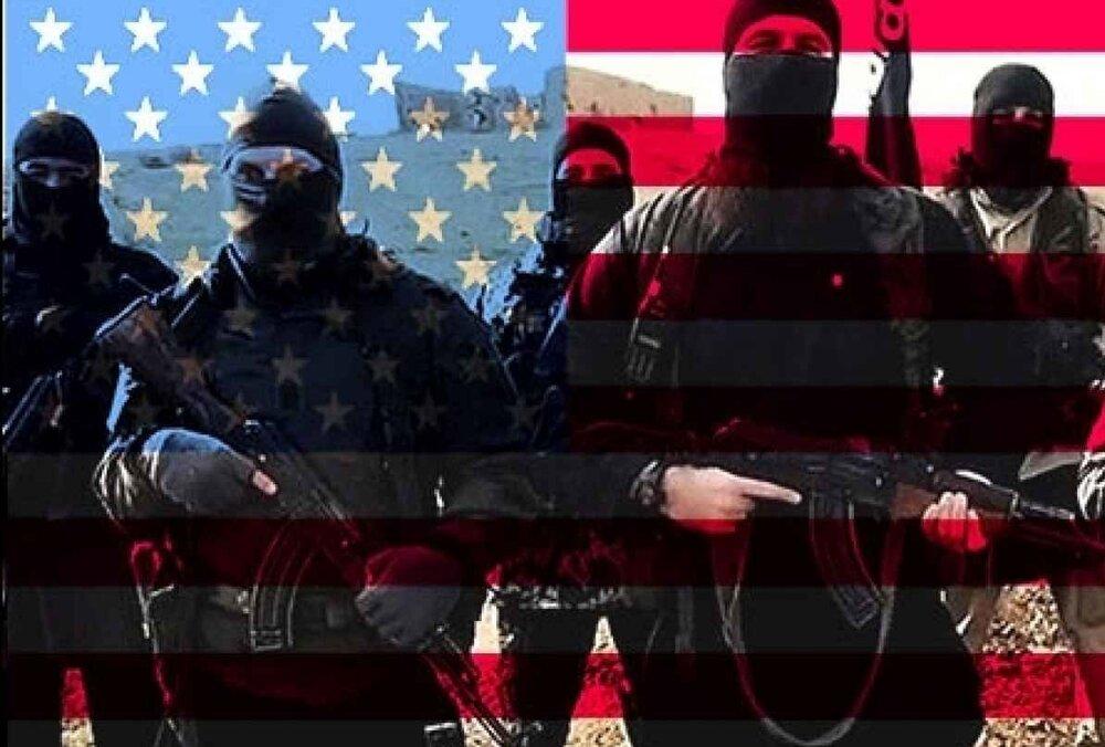 تصویربرداری پهپادهای ایرانی از تعاملات نیروهای آمریکایی با داعش