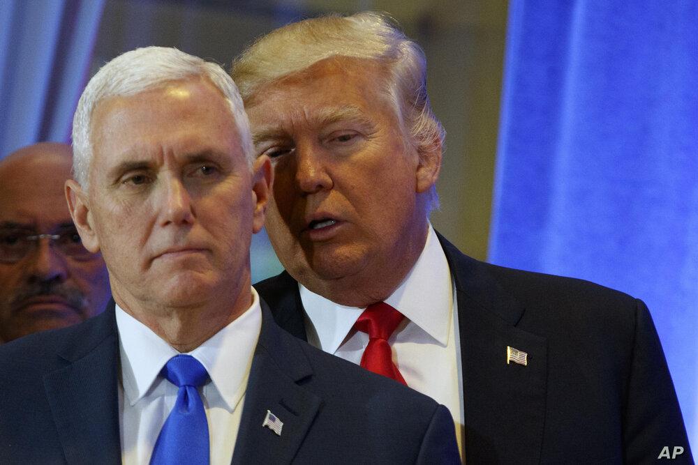 حمله ترامپ به مایک پنس