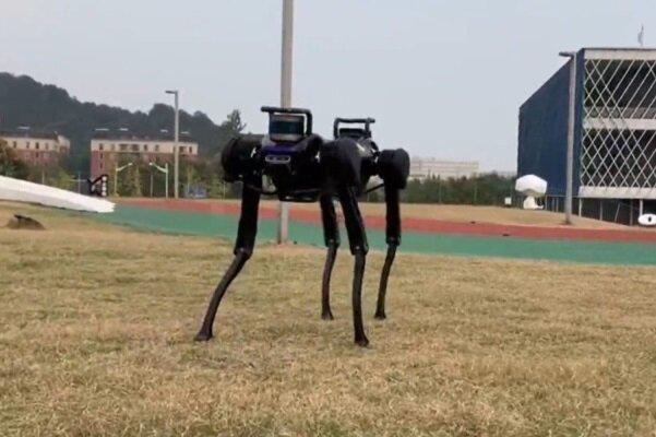 سگ رباتیک بعد از سقوط بلند میشود