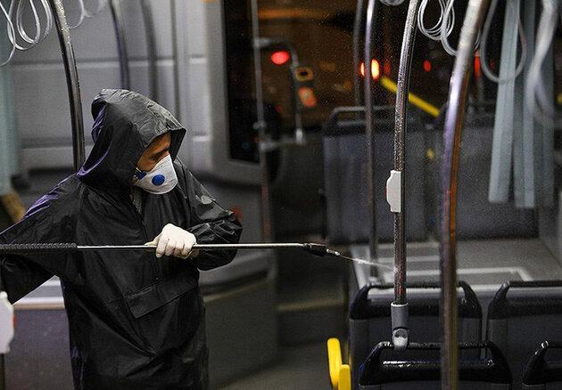 ضدعفونی ناوگان حمل و نقل عمومی کرج ادامه دارد