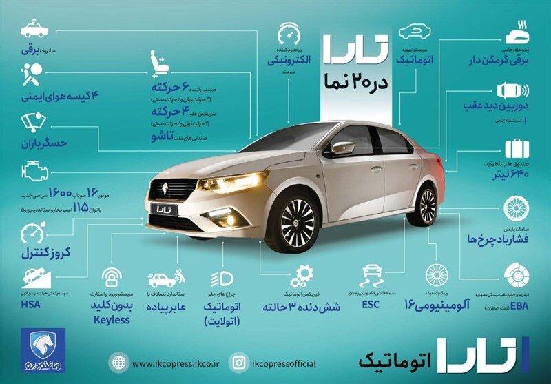 مقایسه تارا ایران خودرو و شاهین سایپا + مشخصات فنی و قیمت