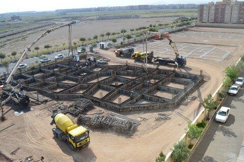 عملیات احداث اولین مجتمع فرهنگی_ورزشی در شهر حمیدیا به مرحله بتنریزی رسید