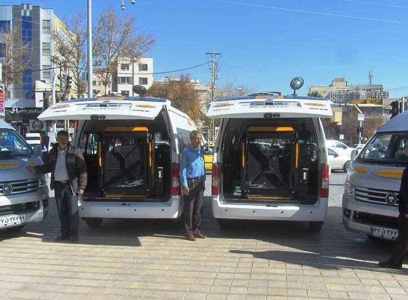 گسترش خدمات خودروهای ون ویژه افراد توانخواه در شیراز