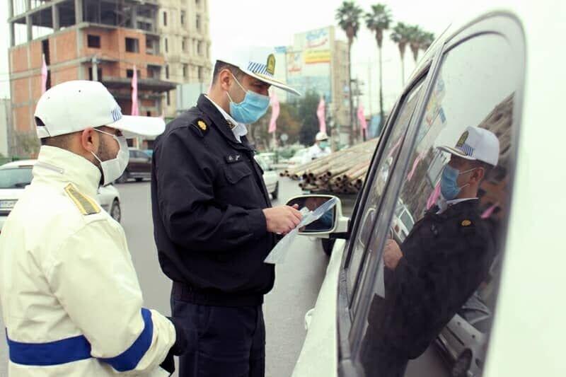 ارسال بیش از ۴۱ هزار پیامک به رانندگان خاطی طرح کرونا