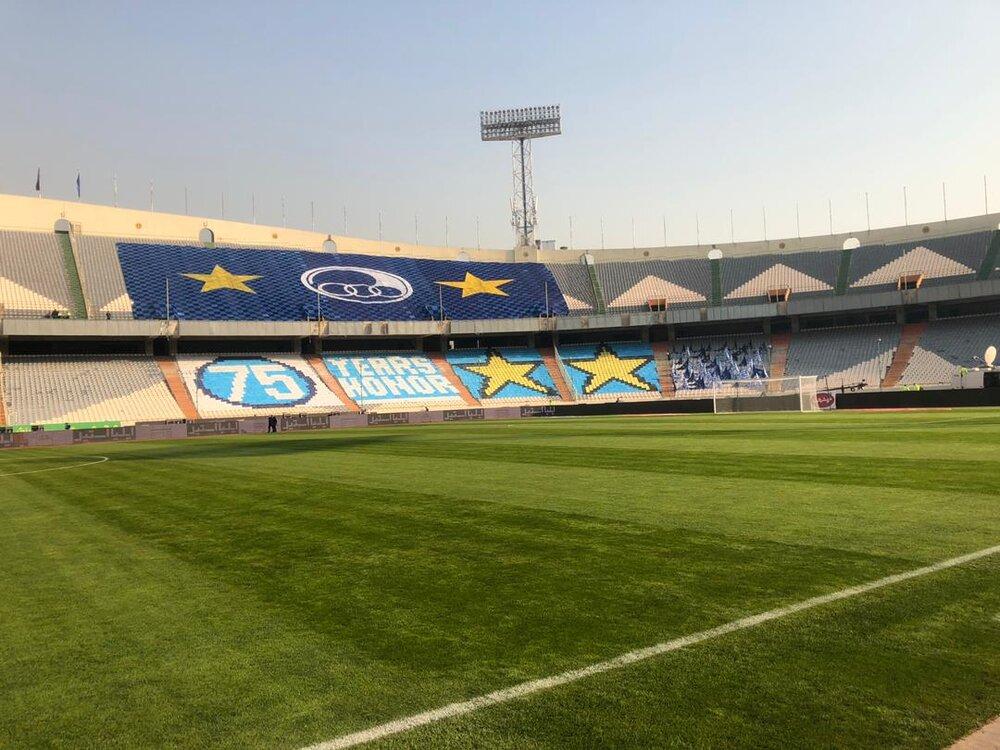 آخرین وضعیت استادیوم آزادی پیش از دربی ۹۴ + فیلم و عکس