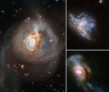 کهکشانهایی که در اثر ادغام ۲ کهکشان به وجود آمدهاند