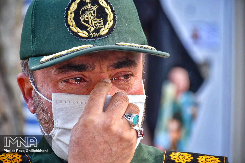 تشییع شهید فتح الله عابدینی در نجف آباد