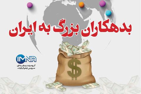 بدهکاران بزرگ به ایران/اینفوگرافیک