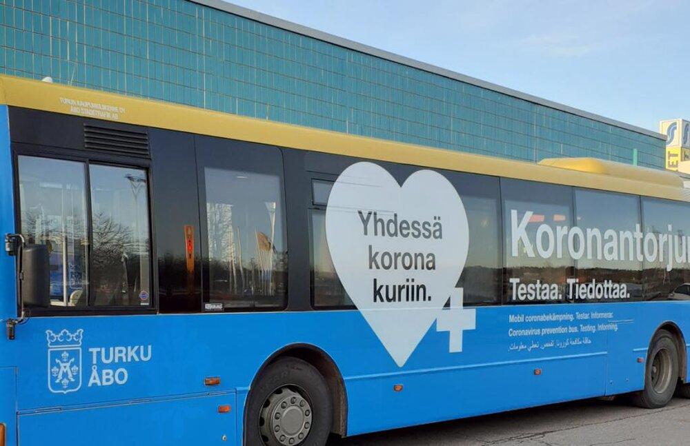 اتوبوسهای ضدکرونا در فنلاند