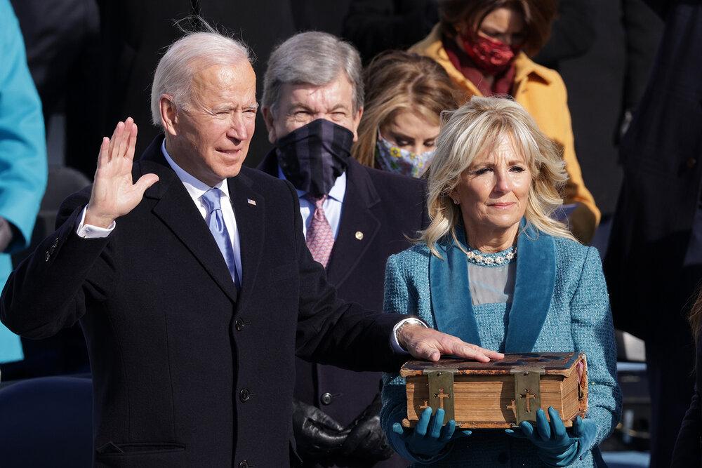 جو بایدن به عنوان چهل و ششمین رئیس جمهور آمریکا سوگند یاد کرد