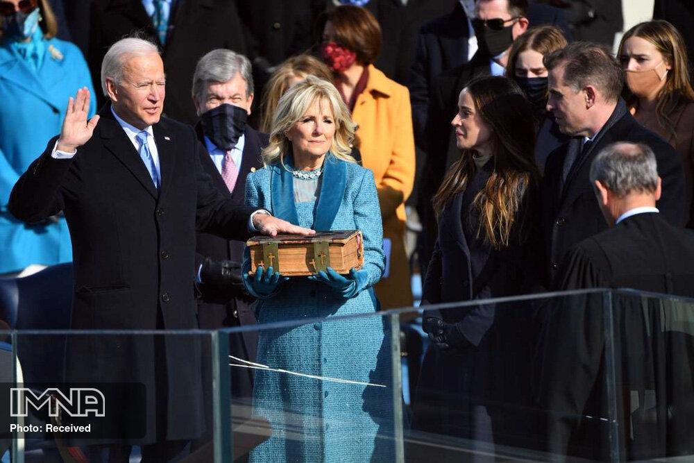 """مراسم تحلیف رئیس جمهور آمریکا """"جو بایدن """""""
