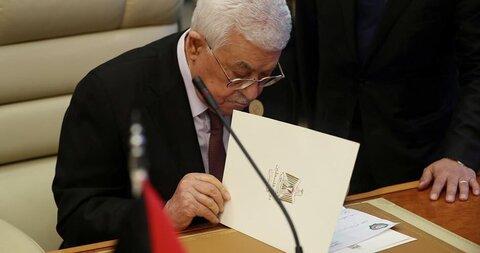 محمود عباس برای ولادیمیر پوتین نامه فرستاد
