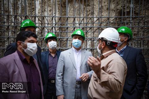بازدید رئیس منطقه شش بازرسی کل کشور از پروژه خط دو متروی اصفهان