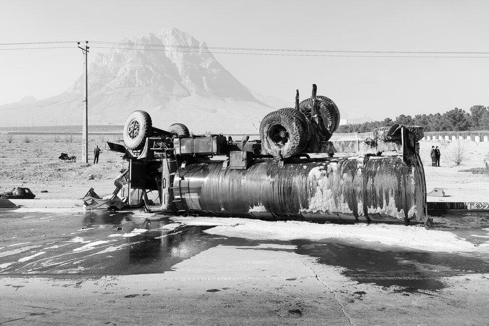 واژگونی تانکر حمل سوخت
