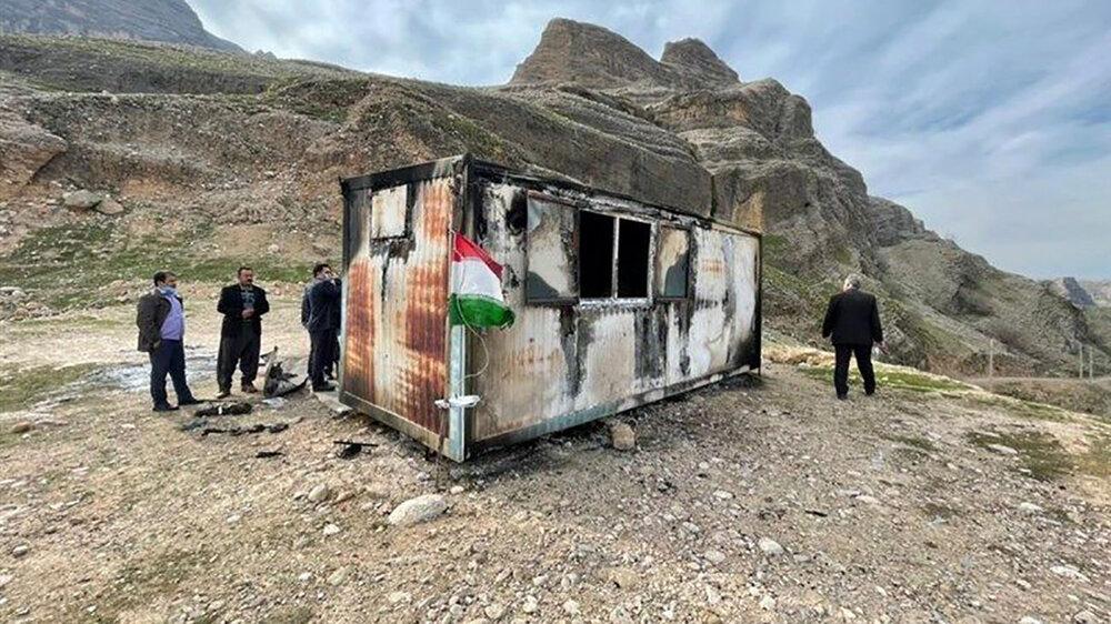 معلمان حادثهدیده در آتشسوزی کانکس از بیمارستان مرخص شدند