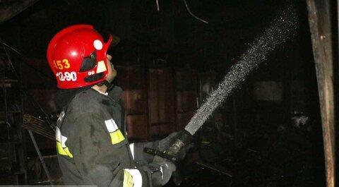 آتشسوزی هولناک در کارگاه تراشکاری