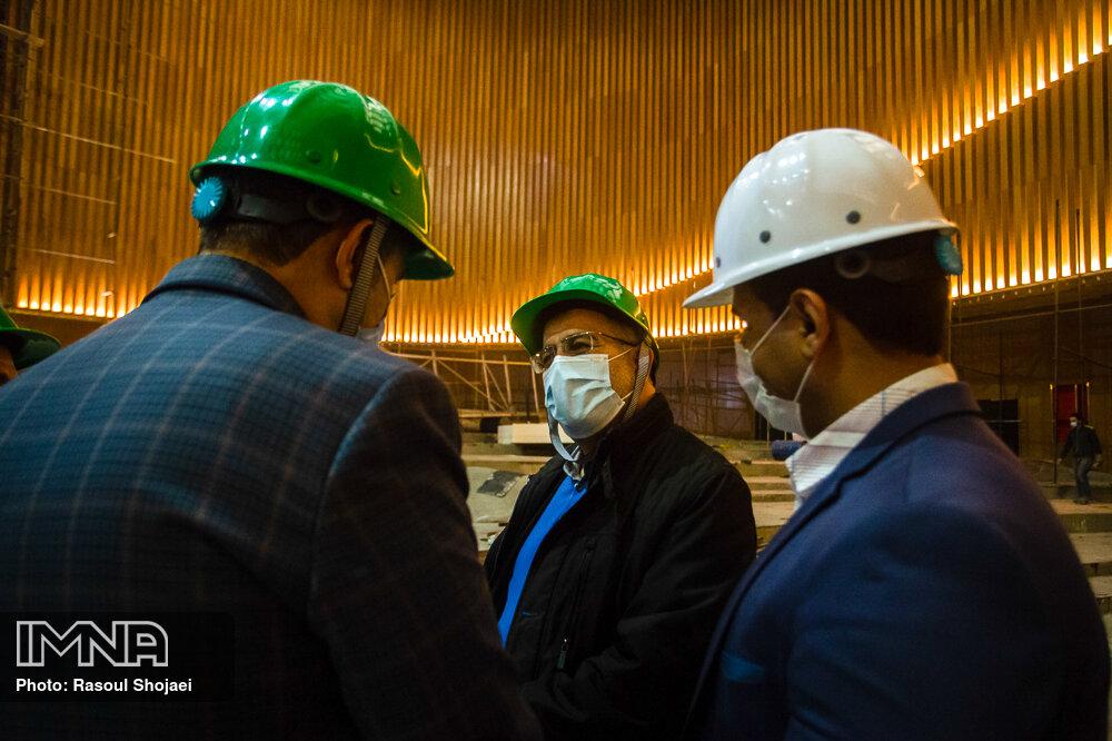 بازدید مدیران وزارتخانه های امورخارجه و کشور از سالن اجلاس