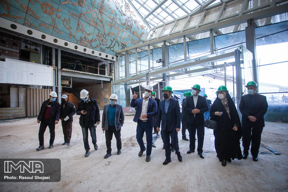 پیشرفت مرکز همایش های بین المللی اصفهان بهمن 1399
