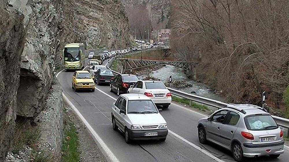 ترافیک روان در جادهها/پیشبینی وقوع بارش در جادهها از فردا