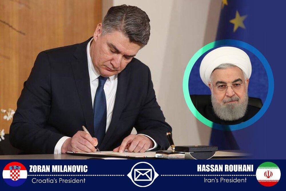 پیام رئیس جمهور کراواسی به روحانی