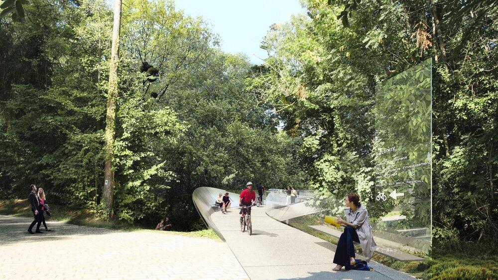 پیاده راه لوکزامبورگ در حمایت از هنر و فضای سبز ساخته میشود