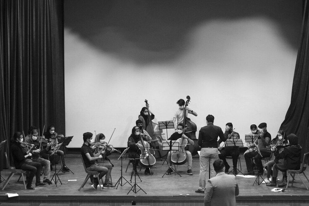 تمرین ارکستر جوانان و نوجوانان اصفهان