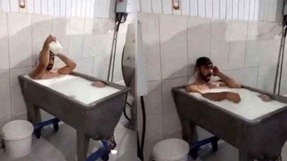 ۱۵ سال زندان برای حمام در وان پر از شیر + عکس