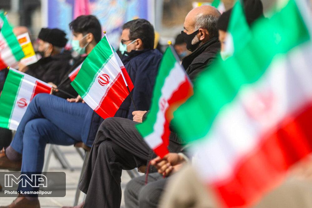 مراسم راهپیمایی ۲۲ بهمن در تبریز