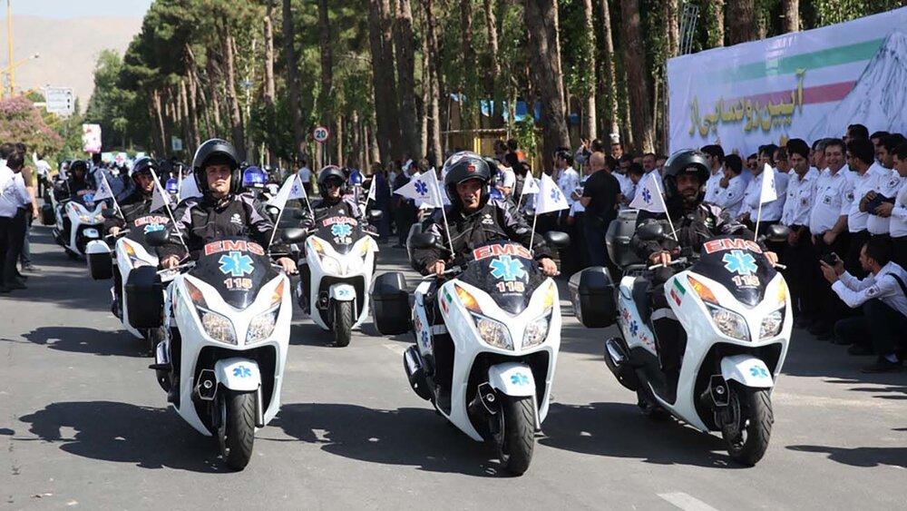 افزایش ۱۰۰۰ دستگاه موتورلانس به ناوگان اورژانس کشور