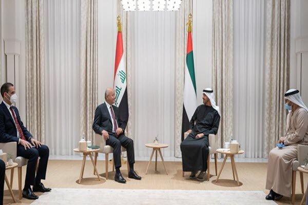 رئیسجمهور عراق و ولیعهد ابوظبی دیدار کردند