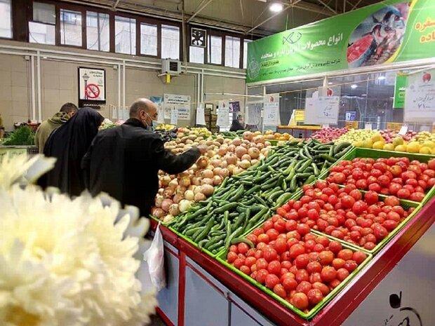 سومین بازار روز میوه و ترهبار در گلپایگان افتتاح شد
