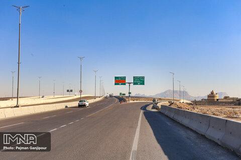 """""""پل آفتاب"""" گره ترافیکی شمال شرقی اصفهان را باز کرد"""