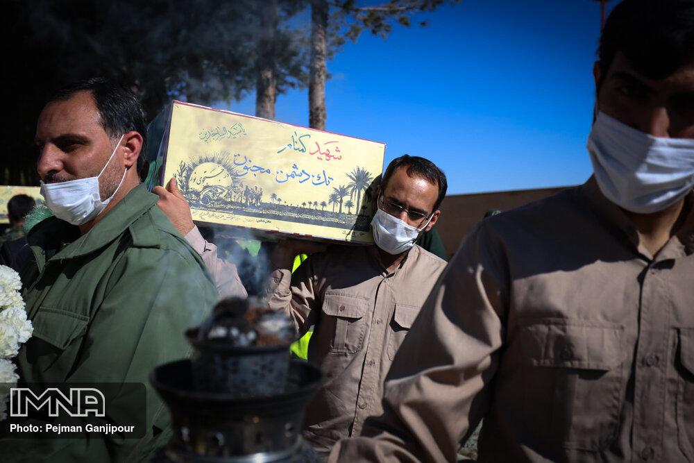 مراسم استقبال از ۵ شهید گمنام در اصفهان