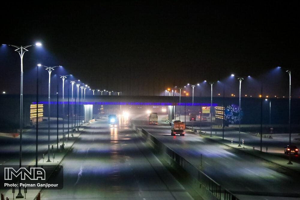افتتاح تقاطع آفتاب رینگ چهارم اصفهان