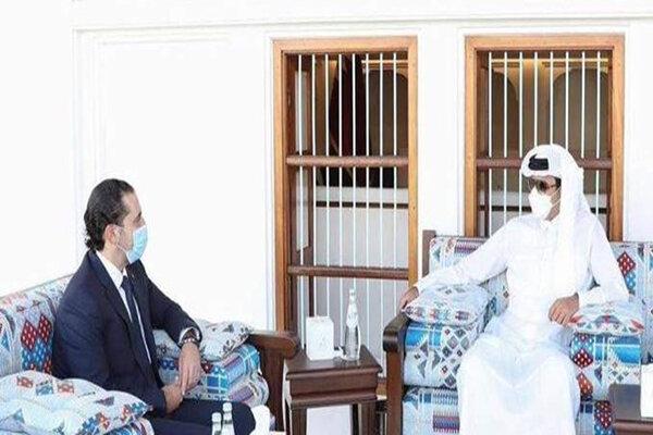 دیدار سعد الحریری با امیر قطر