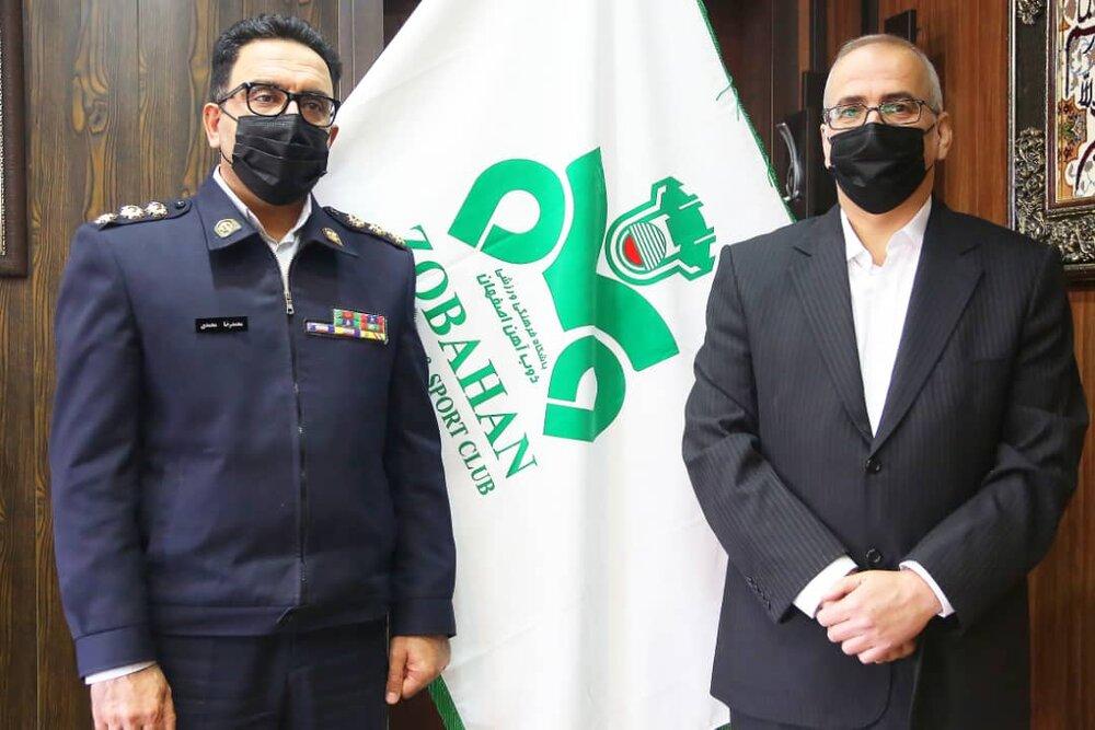 دیدار پلیس راهور استان اصفهان با مدیرعامل باشگاه ذوبآهن