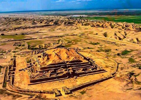 Ancient Mesopotamian temple in Iran