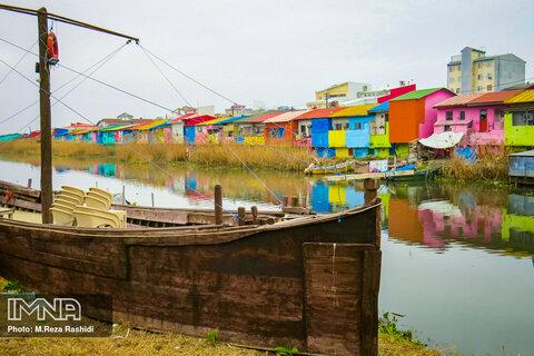 Bandar-e Anzali home to brightly coloured houses