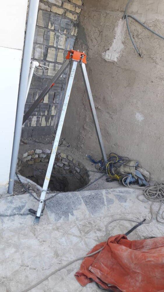 سقوط جوان اصفهانی در چاه عمیق