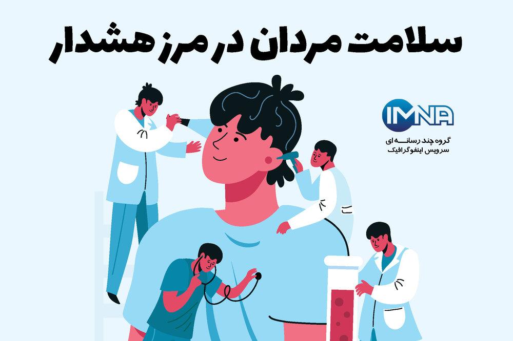 سلامت مردان در مرز هشدار/اینفوگرافیک