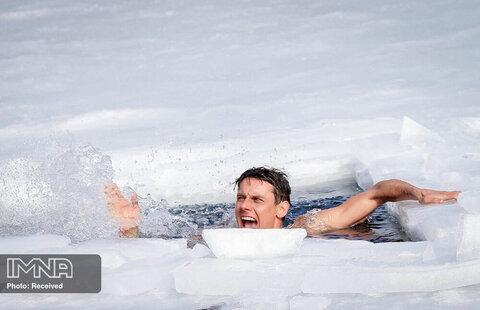 ثبت لحظات شادی شناگر اهل چک پس از شکستن رکورد جهان