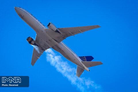آتش گرفتن موتور هواپیمای خط هوایی امریکا( UA328)  با 231 مسافر و 10 خدمه